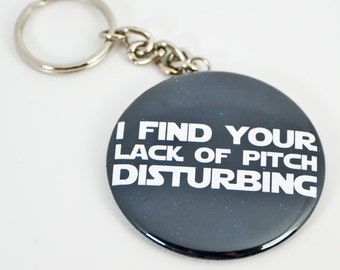 Funny Music Keychain - 2.25 inch button style