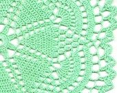 Christmas gift, Crochet doily, lace doilies, table decoration, crocheted doilie, center piece, hand made, table runner, napkin, mint green
