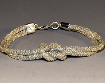 Silversilk Loveknot Bracelet with Sterling Silver Clasp