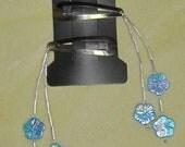 Blue Flower Hanging Tassel Barrette