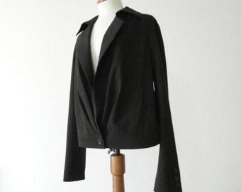 Vintage Designer Jacket Bill Blass Black Jacket September Sale