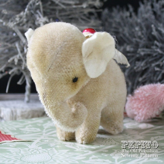 NEW Pepito elephant E-Pattern & sewing plus aging instructions..