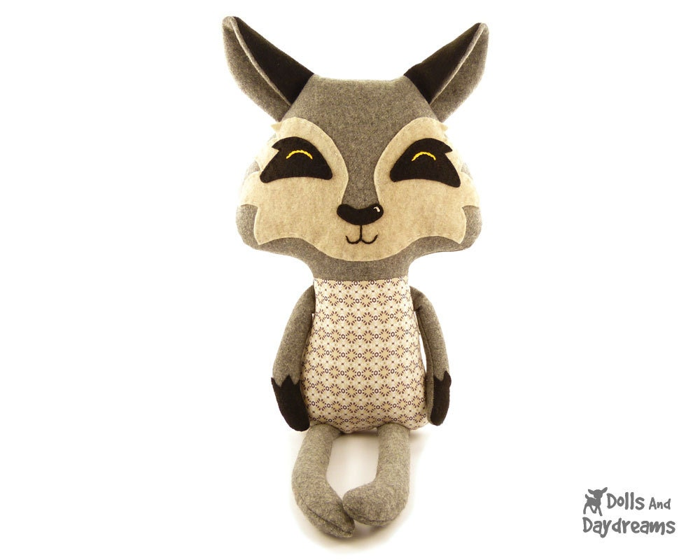 Wolf Sewing Pattern Pdf Stuffed Woodland Toy By