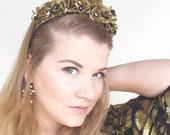 The Gilded Temptress headband fascinator