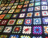 Traditional Granny Square Afghan, Roseanne Inspired