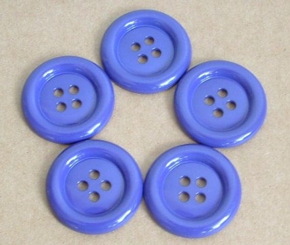 Lot of 5 Buttons - 1.5 inch Purple