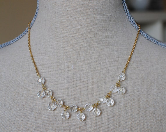 Bethany Necklace (Gold & Clear)