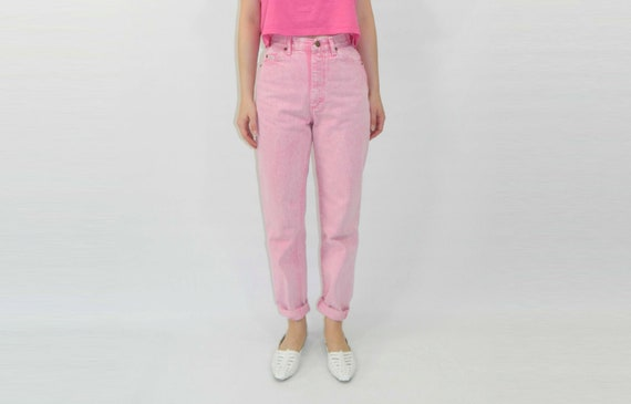 Pink Jeans 80s Stonewashed High Waist Small