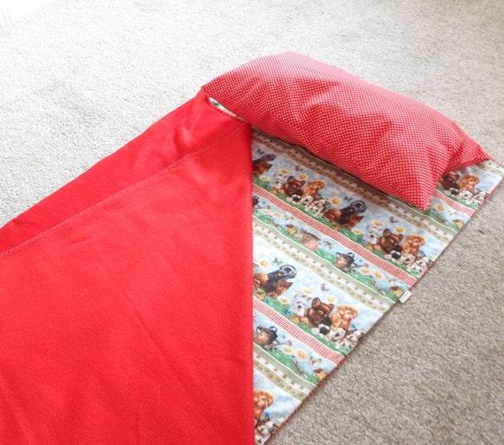 Nap Mat, Attached Pillow, Blanket