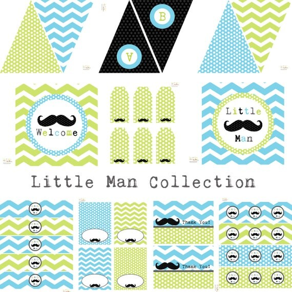 little man mustache party decorations birthday party baby shower