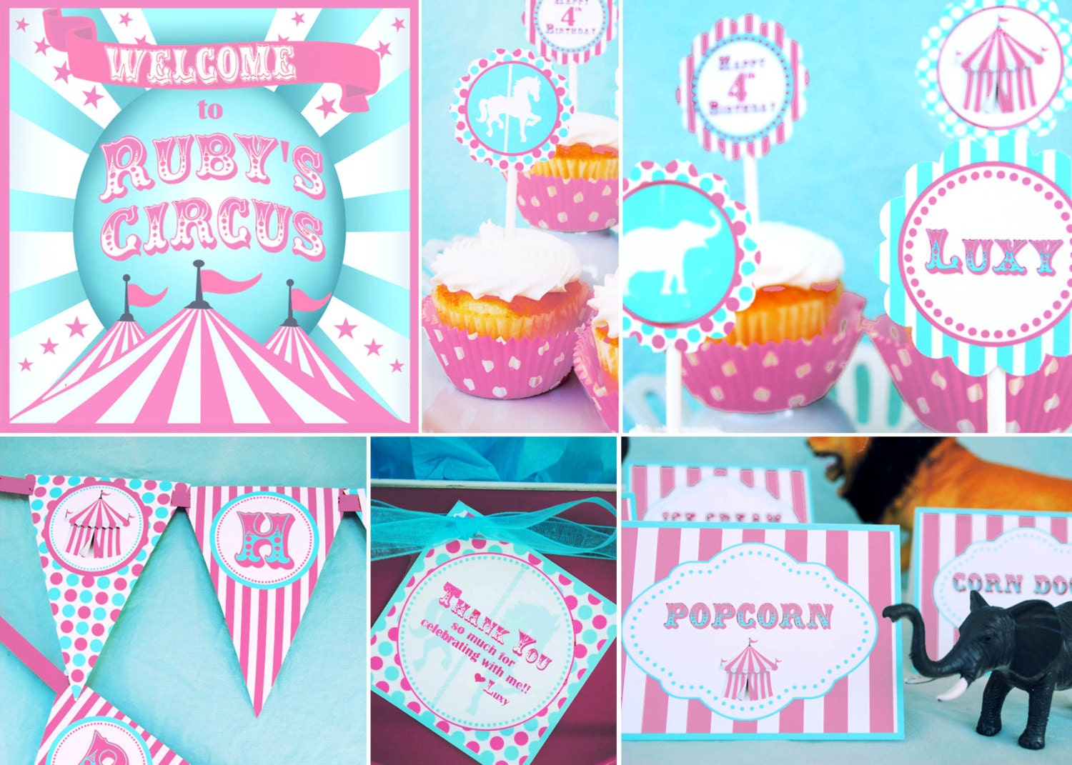 Circus Party Decorations Carnival by GwynnWassonDesigns on Etsy