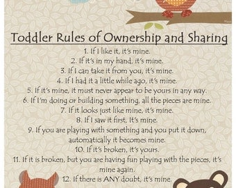 Toddler Rules Etsy
