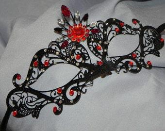 Custom Two Tone Metallic Masquerade Mask