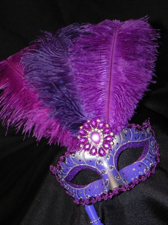 Shades of Purple and Silver Princess Venetian Mask - Made to Order