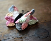Hand Crocheted Butterfly Magnet in Pastel Colors