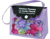 Fashion Fabric Flowers Brights by Imaginisce