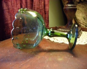 Indiana Glass Frog Flower Pedestal Bowl