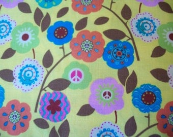 Peace flower fabric
