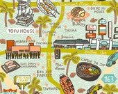 RESERVED Listing for Mike- San Diego Map Print