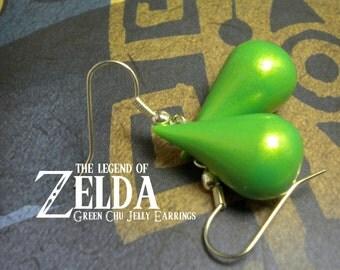 Green Chu Jelly Earrings (Glow in the Dark) - Legend of Zelda - Nintendo