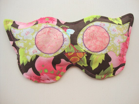 Brown, Pink and Green Soothing Eye Pillow Mask