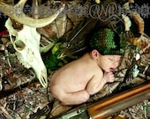 Camo Newborn Camouflage Photography Prop Hunter's Baby Hat