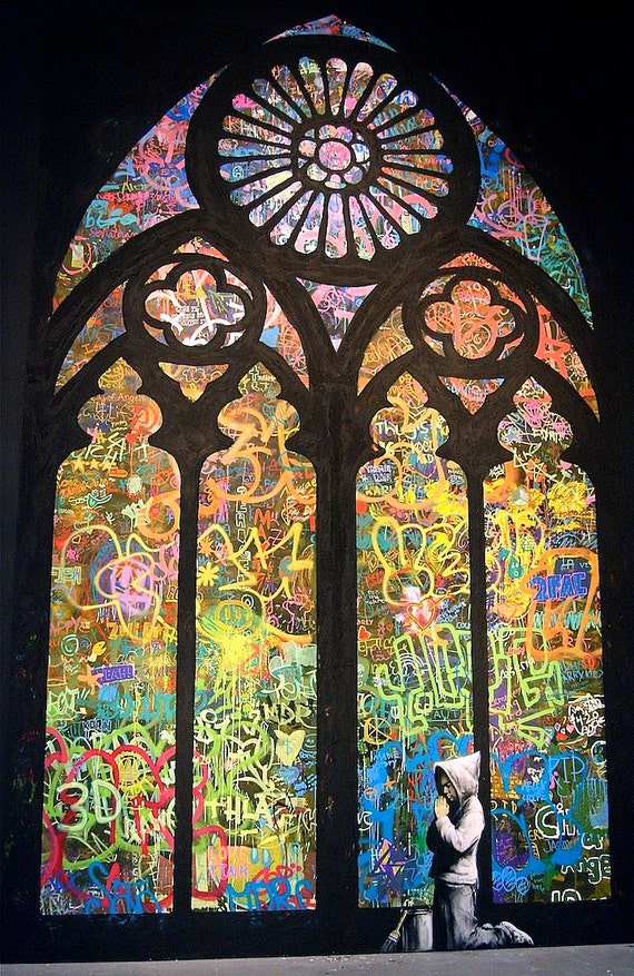 Custom Print / Poster - 18x24 Stained Glass Graffiti