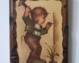 Vintage Wooden Wall Hanging/Picture (Hit the Spot)