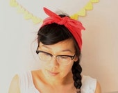 Super Tie Up Headscarf/Headband - Apple Red  FREE UK SHIPPING
