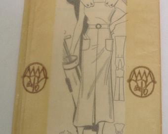 Fabulous vintage 1930's Mail Order MARIAN MARTIN Pattern 9396 Summer Sporting Dress Sz 16 Uncut FF
