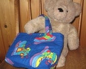Children's Quilted Tote Bags or Gift Bags in Bright Primary Colors -- 4 Different Tote Bags Available