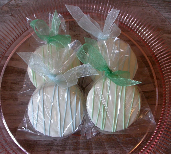90 Edible Wedding Cookie Favors Dipped By SimplyDivineDesserts