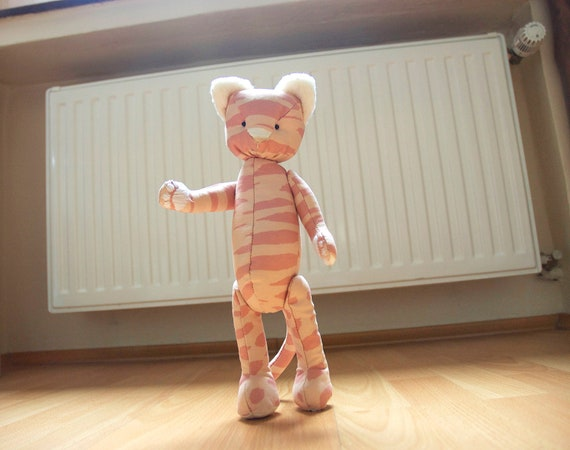 Eco-friendly Kitty Cat Handmade Jointed Soft Toy
