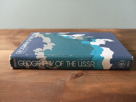Geography of the USSR Vintage Textbook
