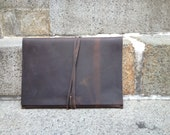 Governor Clutch / Distressed iPad Case / Leather Clutch / Handmade Leather iPad Case / Custom Leather iPad Covers and Cases Made To Order