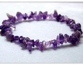 Stretch Bracelet - Gemstone Bracelet - Amethyst Bracelet, Bead Bracelet, Gemstone Jewelry