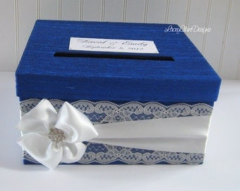 Invoice Generator Software Free Word Wedding Card Boxes Card Holders And Couture By Laceyclairedesigns Invoice Finance Pdf with Gnucash Invoices Word Custom Wedding Card Boxes Card Holder Money Card Box Cobalt Blue Lace Daycare Invoice Template Excel