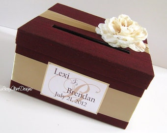 Wedding Card Box Wedding Card Holder Wedding Card Money Box Custom made to order Card Box Money Box