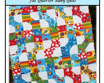PDF Baby Quilt Pattern Saria's ToyBox Bowtie and Patchwork