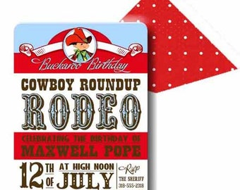 Lil Buckaroo Collection, Cowboy Invitation by Loralee Lewis