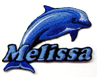Iron on Patch Dolphin Name Personalized Free