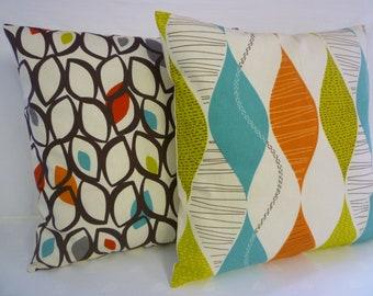 "BIG 22 x 22"" Pilow Cover Orange Blue Green Designer Cotton Cushion Cover Pillowcases Shams Slips"
