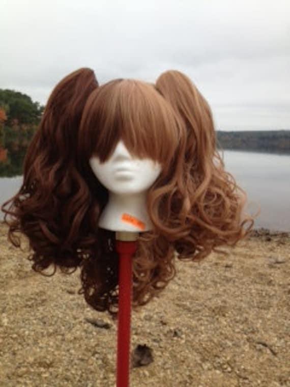 Dual Brown split lolita wig