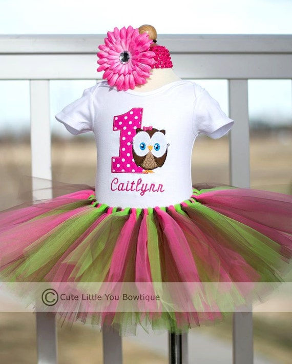 Items Similar To Personalized Owl First Birthday Outfit