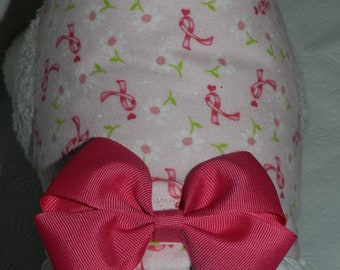PINK RIBBON BCA Breast Cancer Awareness Daisy Warrior Harness. Custom made for your Cat, Dog or Ferret.