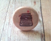 Button Ring (typewriter love)