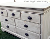 Restoration Hardware Inspired Gray/Beige Dresser / Tv Stand / Buffet / Changing Table