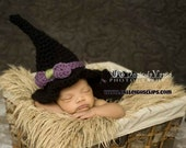 Instant Download Crochet Pattern- No. 65 Crafty Witch Hat and Cape- PDF Digital files -variety of sizes Nb - Adult
