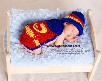 Instant Download Crochet Pattern - No 18 Superbaby - Cuddle Critter Cape Set