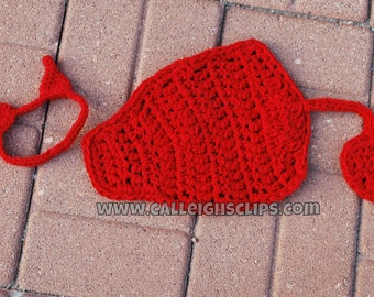 Instant Download Crochet Pattern - No 74.2 Lil' Devil -Cuddle Critter Cape Sets